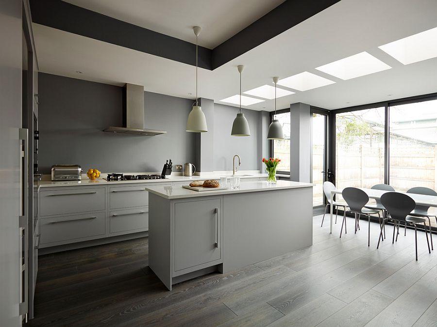 В какой цвет покрасить кухню: интерьер в сором цвете - Фото 30