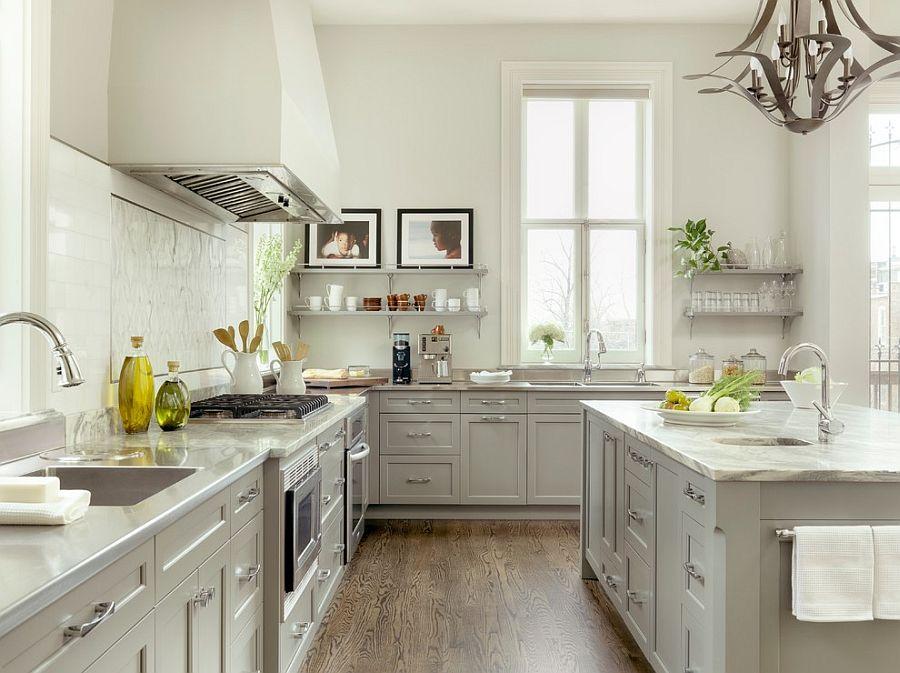 В какой цвет покрасить кухню: интерьер в сором цвете - Фото 31