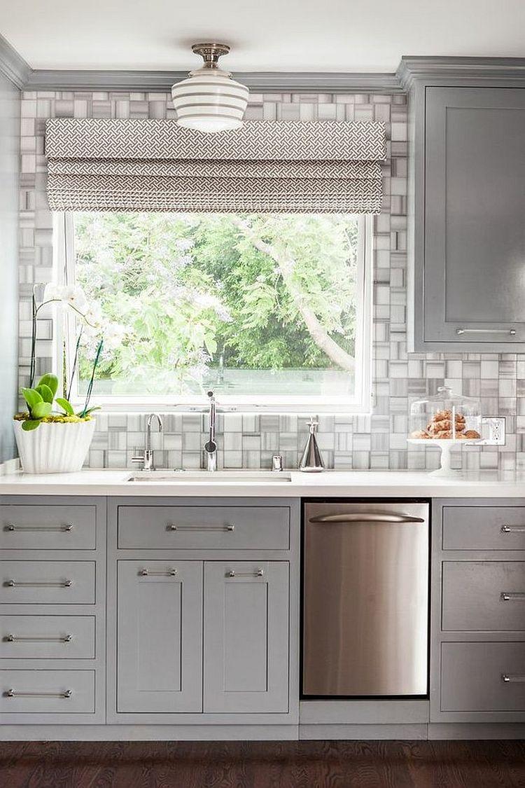 В какой цвет покрасить кухню: интерьер в сором цвете - Фото 32