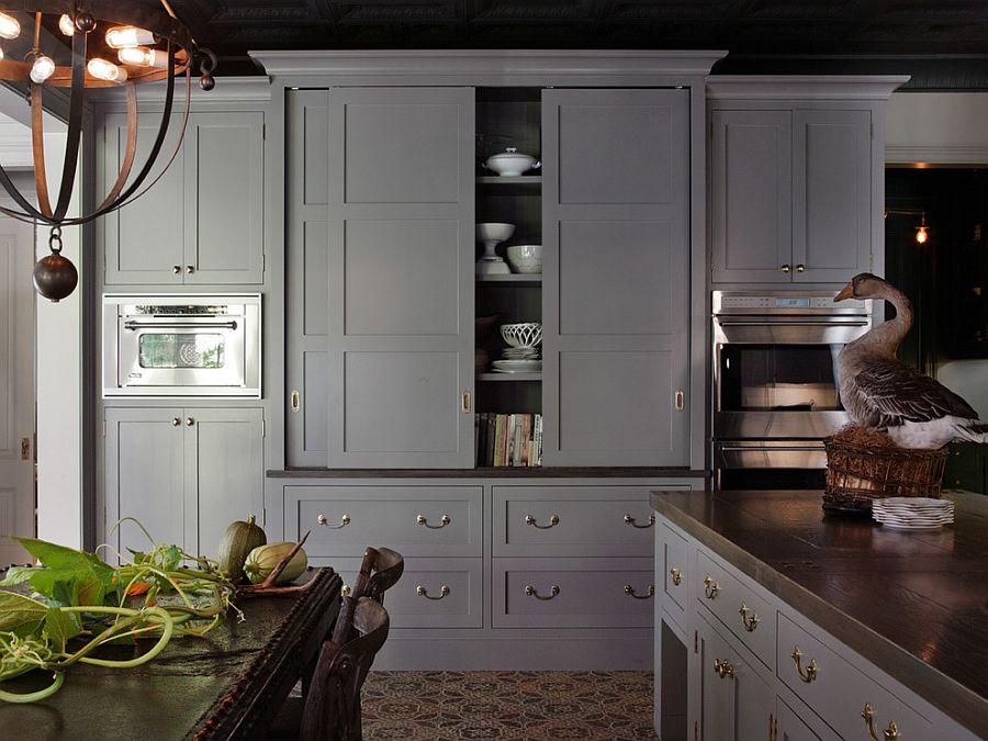 В какой цвет покрасить кухню: интерьер в сором цвете - Фото 33