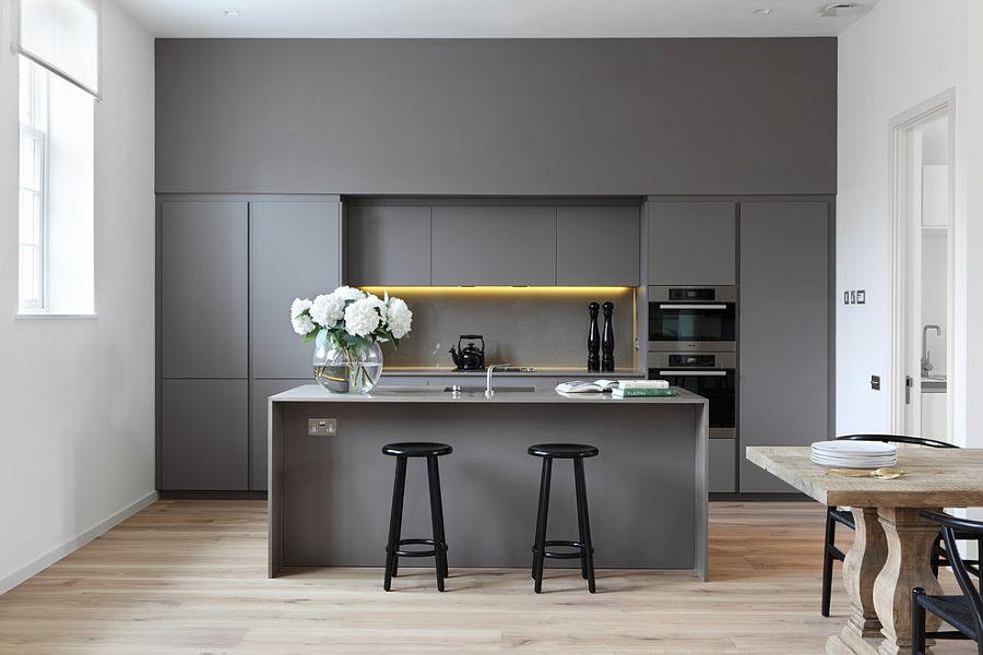 В какой цвет покрасить кухню: интерьер в сором цвете - Фото 34