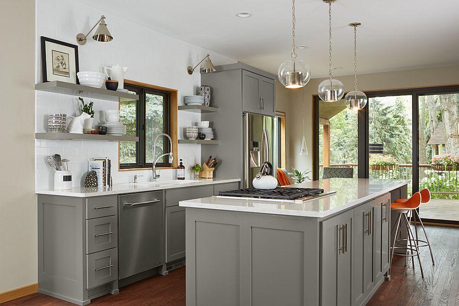 В какой цвет покрасить кухню: интерьер в сором цвете - Фото 35