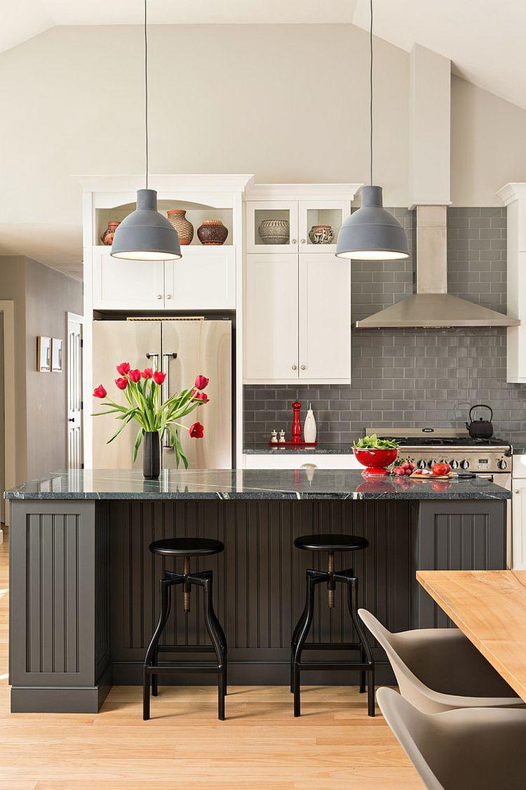 В какой цвет покрасить кухню: интерьер в сором цвете - Фото 36