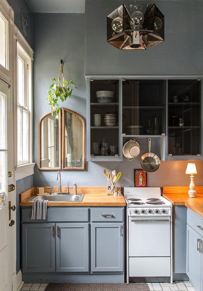 В какой цвет покрасить кухню: интерьер в сором цвете - Фото 37