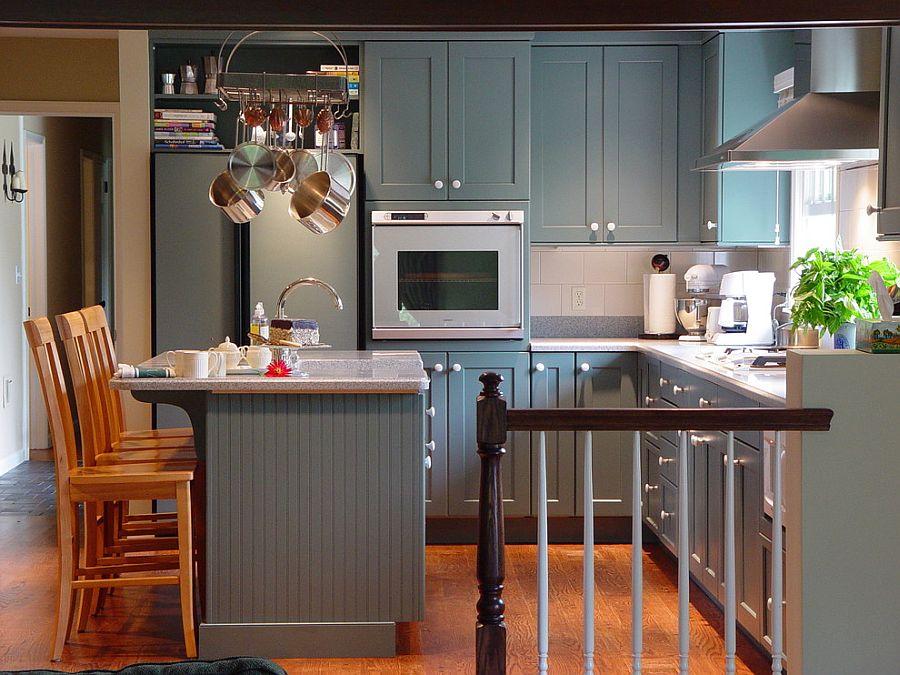 В какой цвет покрасить кухню: интерьер в сором цвете - Фото 39