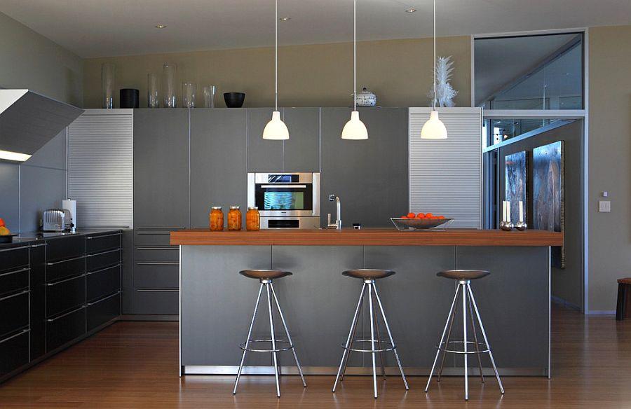 В какой цвет покрасить кухню: интерьер в сором цвете - Фото 41
