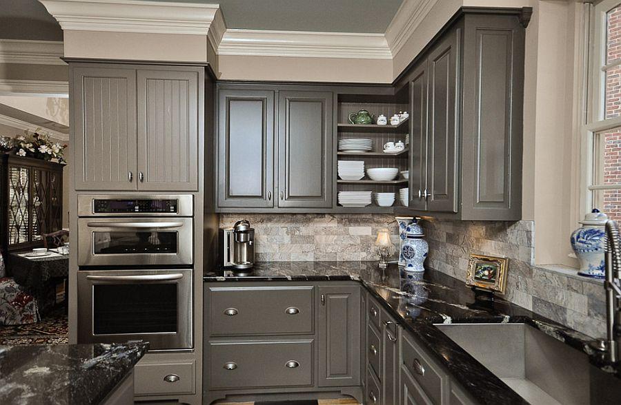 В какой цвет покрасить кухню: интерьер в сором цвете - Фото 45