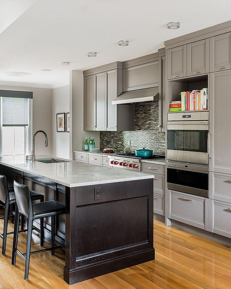 В какой цвет покрасить кухню: интерьер в сором цвете - Фото 46