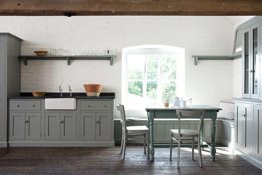 В какой цвет покрасить кухню: интерьер в сором цвете - Фото 47