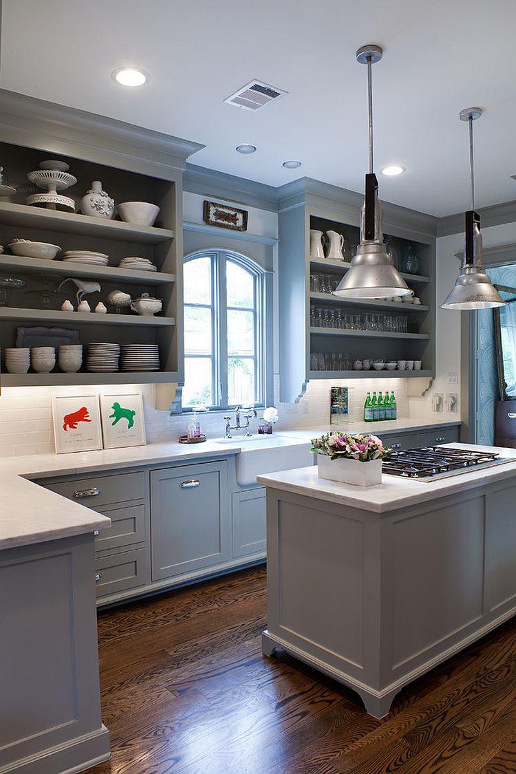 В какой цвет покрасить кухню: интерьер в сором цвете - Фото 49