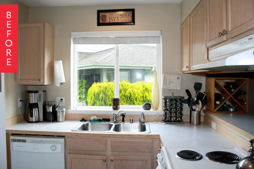 Светлая кухня до ремонта