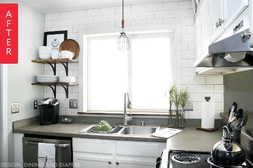 Светлая кухня после ремонта