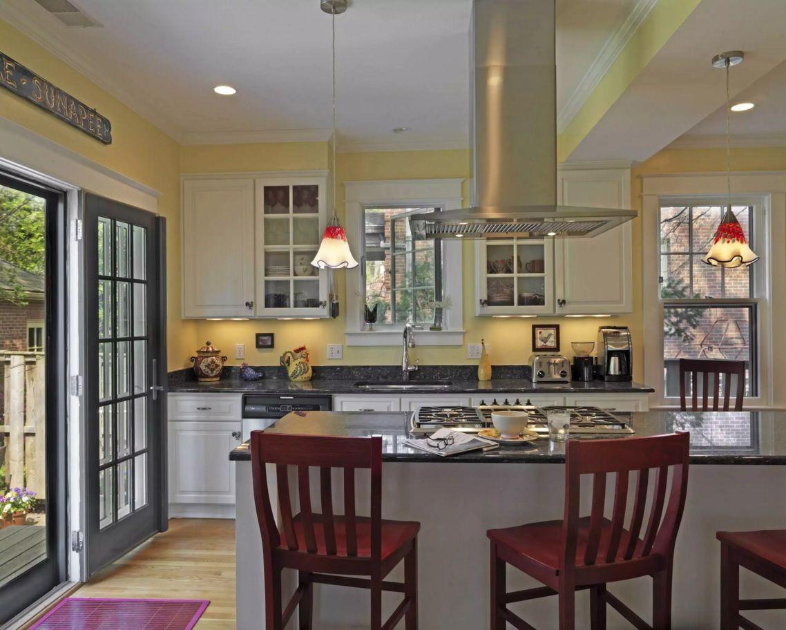 Виды кухонных вытяжек: островные очистители - фото 1