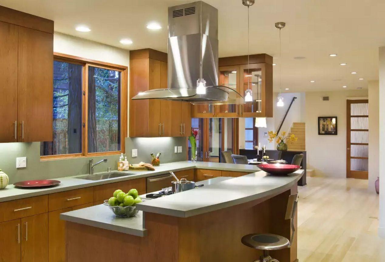 Виды кухонных вытяжек: островные очистители - фото 2