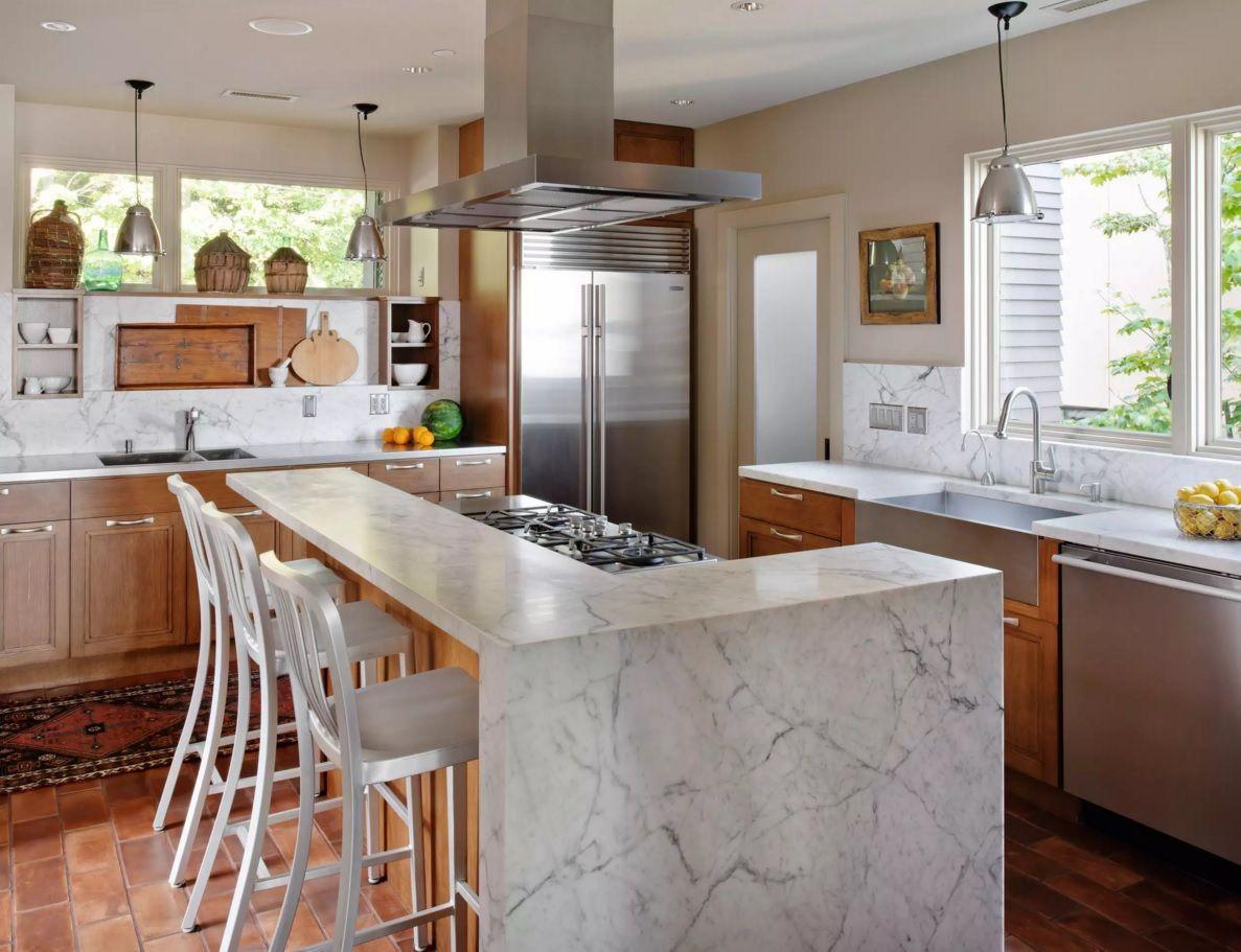Виды кухонных вытяжек: островные очистители - фото 3