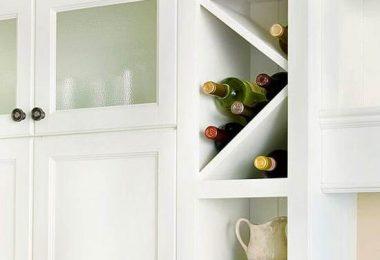 Интересные идеи организации винных шкафов для кухни