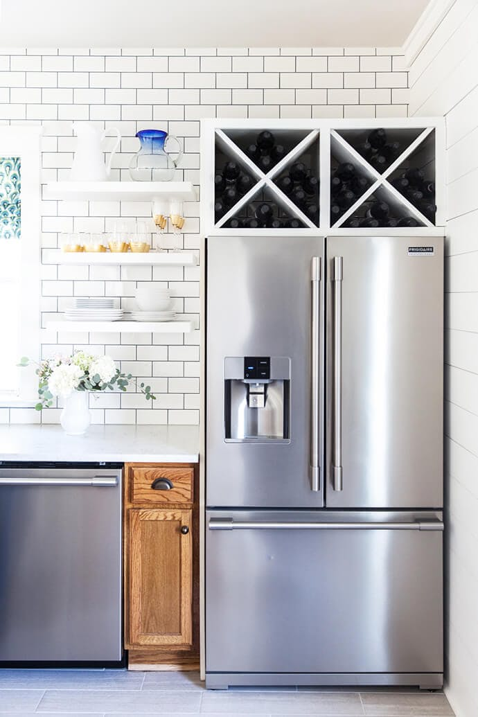 Винные шкафы для кухни - фото The Glitter Guide