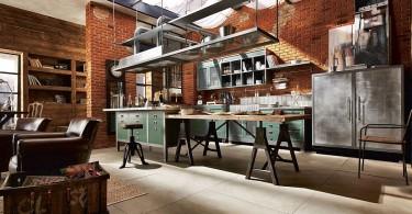 Потрясающий винтажный дизайн интерьера кухни Loft Kitchen от Marchi Group