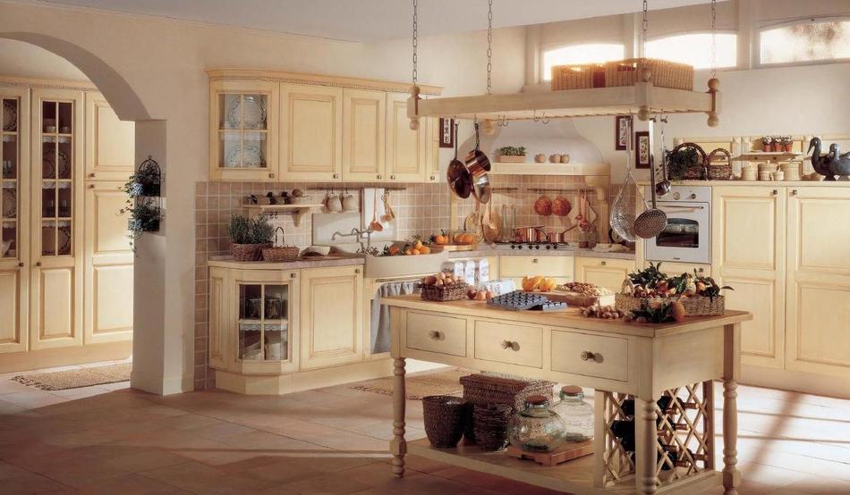 Встроенная техника в интерьере кухни «прованс»