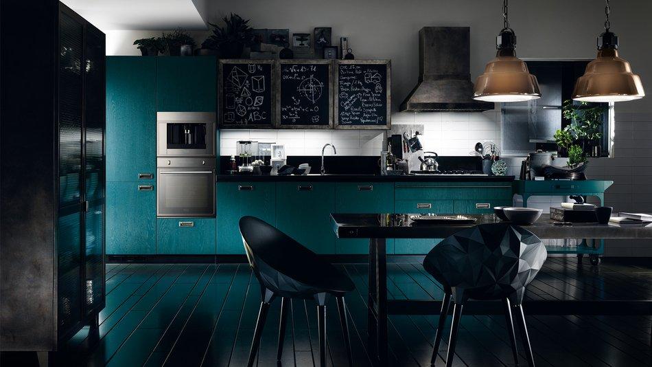 Встроенная техника в скандинавском интерьере кухни