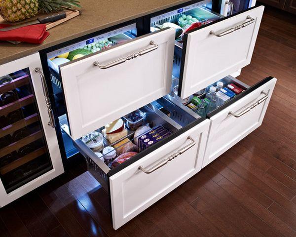 Встроенные холодильники. Варианты исполнения и установки