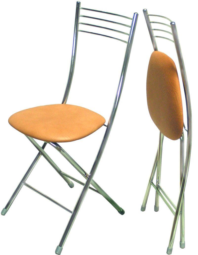 Cкладные стулья для кухни с металлическим каркасом и спинкой