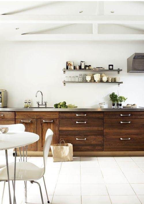 Кухонная столешница из нержавеющей стали