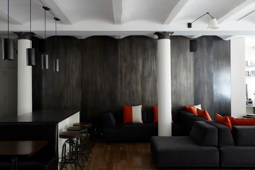 Декоративная отделка стен жидким металлом