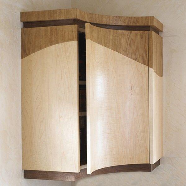 Оригинальный дизайн деревянного шкафчика без ручек кухни Wave