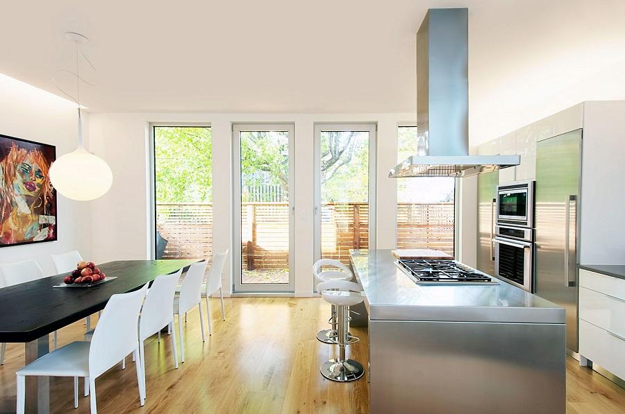 Восхитительный дизайн интерьера кухни-столовой