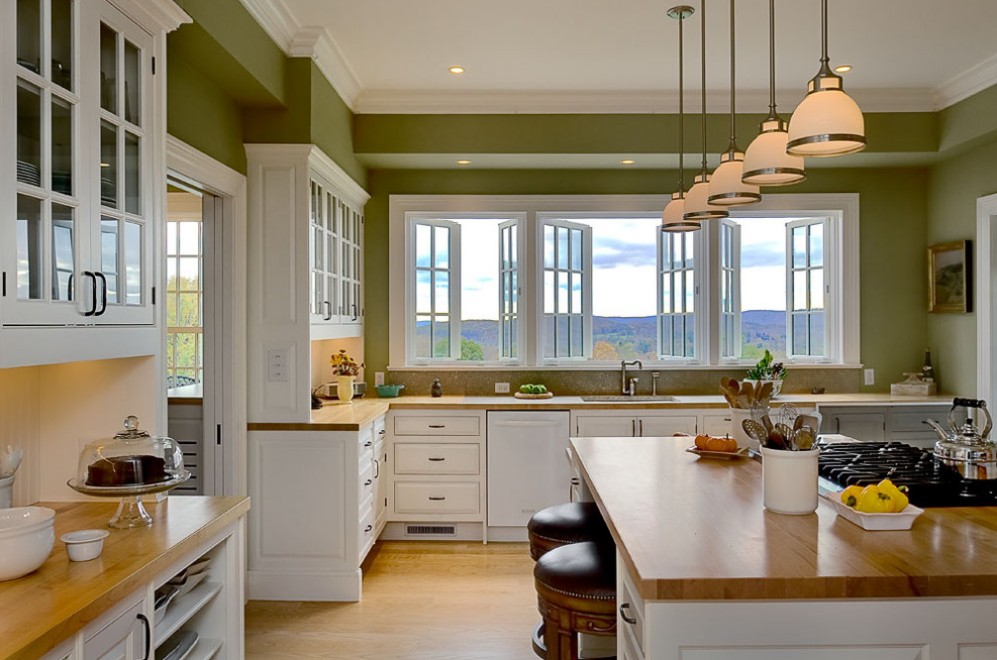 Кухня дизайн с окном интерьер