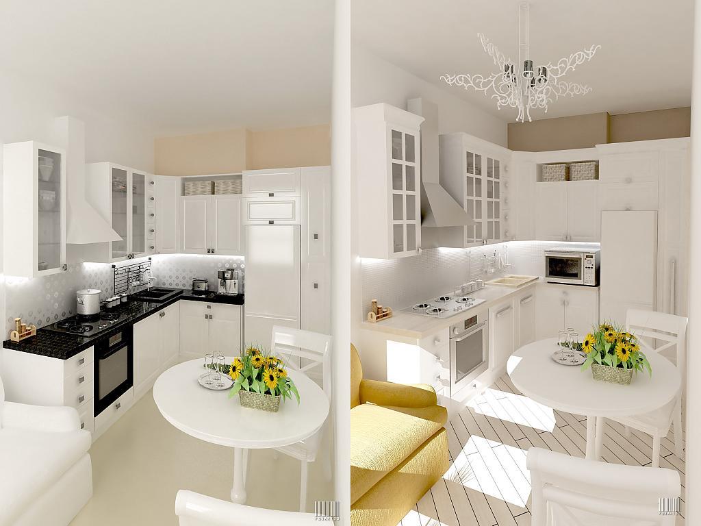 фото кухни белые