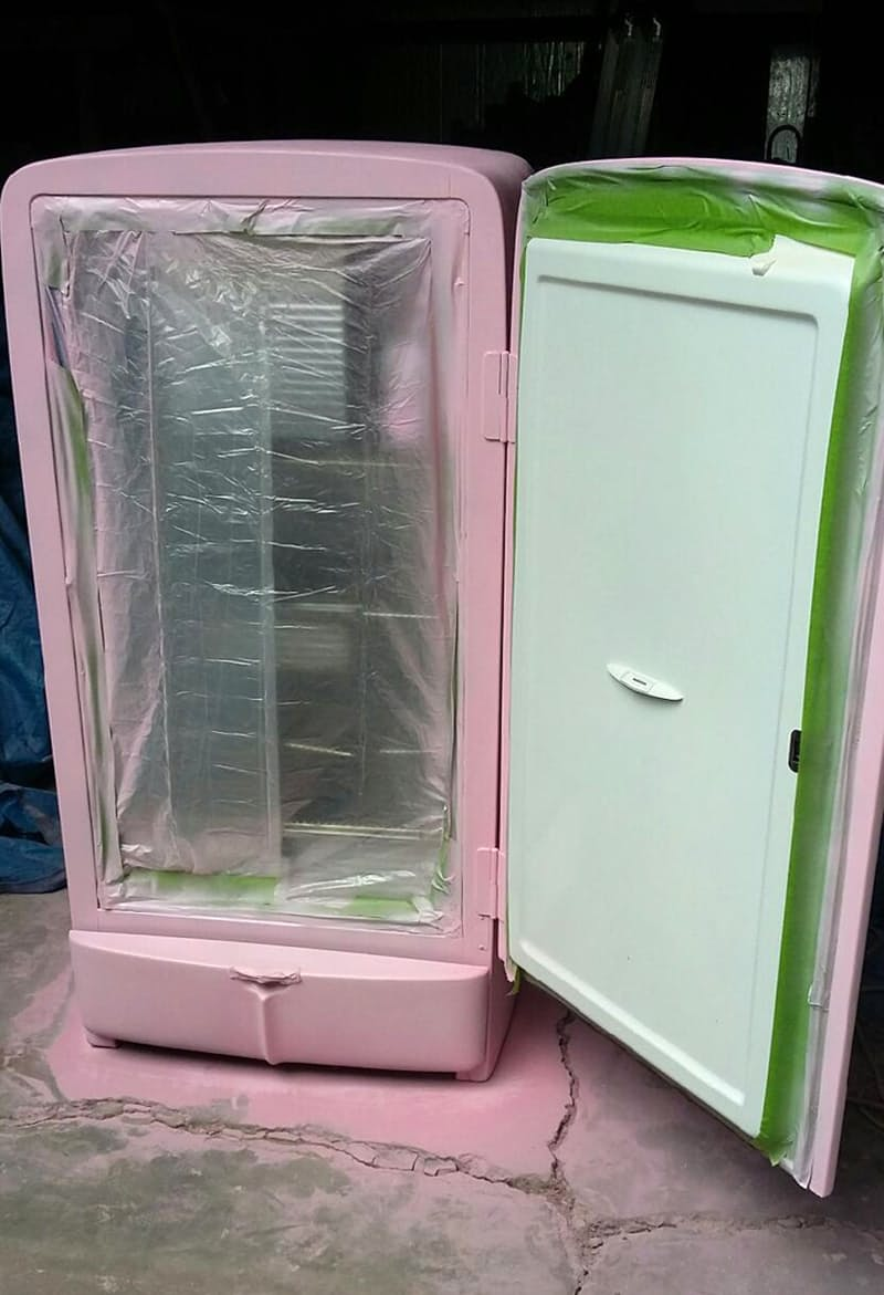Яркий холодильник. Получилось!