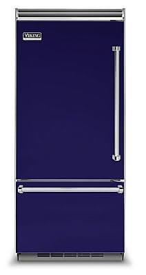 Высокий яркий холодильник