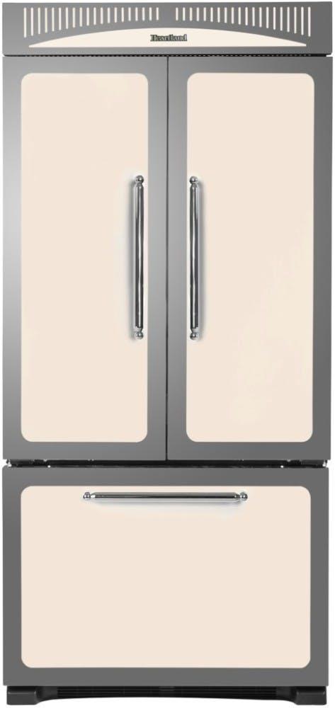 Двустворчатый холодильник в стиле ретро