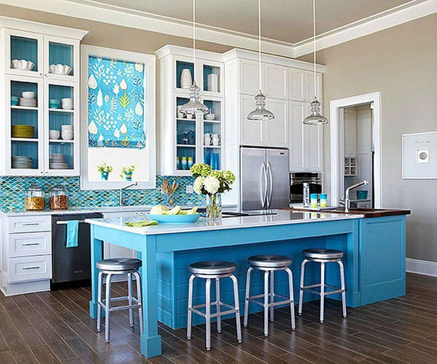 Яркие цвета в интерьере кухни - Фото 5