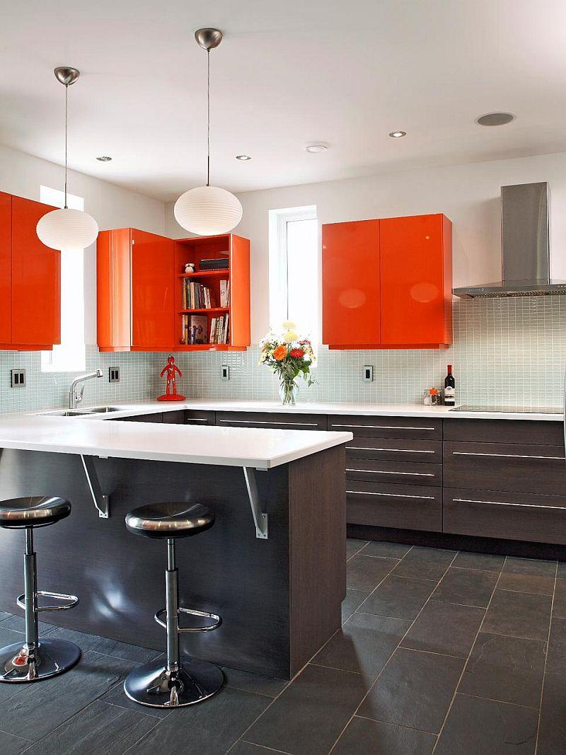 Яркие цвета в интерьере кухни - Фото 12