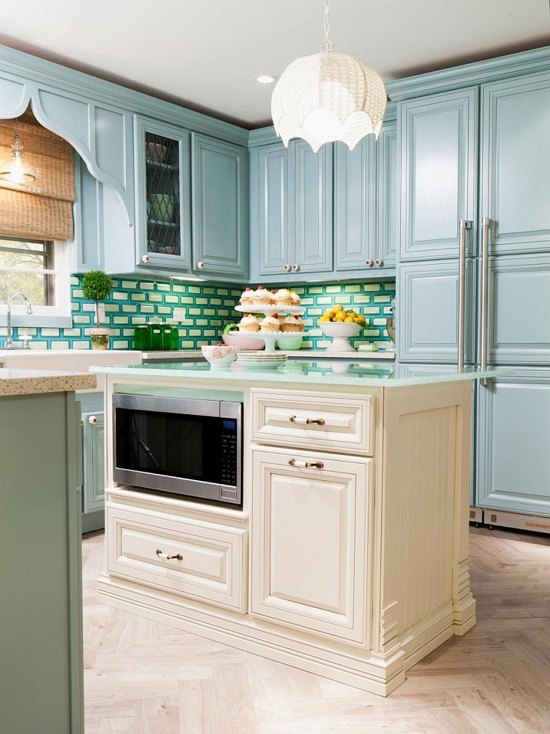 Яркие цвета в интерьере кухни - Фото 25