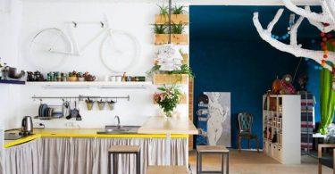 Занавески кухонных шкафов - новый тренд