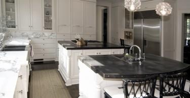Дизайн кухонной столешницы с цинковым покрытием